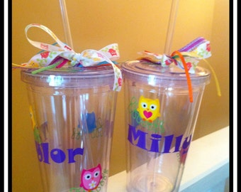 Personalized Tumbler Owl