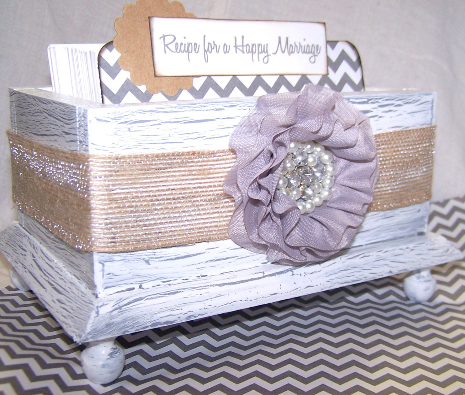 how to make a recipe box for bridal shower