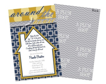 Around the House Bridal Shower Invitation/ We've Moved (DIY, Printable, 5x7)