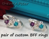 Gifts for BFF Ring for Best Friend Ring Wire Wrapped Jewelry Handmade Wire Ring Birthstone Ring for Friends Gift