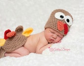 Crochet Pattern Turkey Baby Tushy Cover Set - PDF - Instant Digital Download