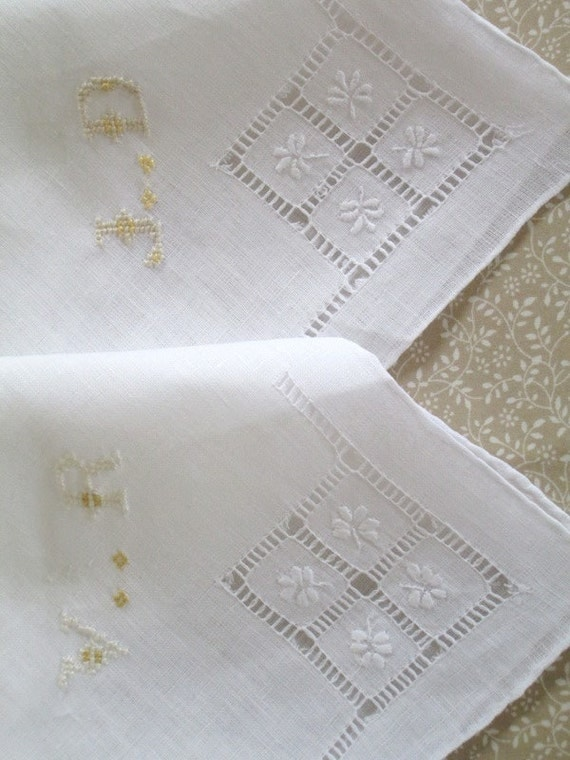 Wedding Handkerchiefs For The Family: Wedding Irish Linen Handkerchief Bride & Groom Handkerchief
