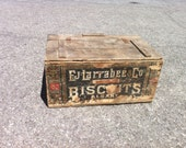 Larrabee General Store Antique Biscuit Box Wood Crate Before Nabisco Albany NY