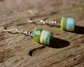 Green Opal Dangles