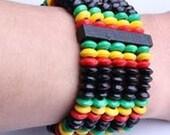 Afrocentric -Cultural - Rasta Wooden Beads Bracelets Bangles -