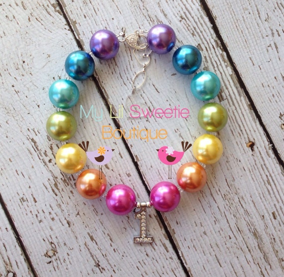 Items Similar To First Birthday Necklace, Chunky Necklace