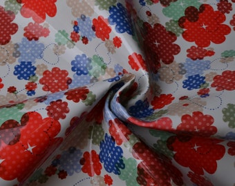 Half Yard Colorful Flower Printed Faux Leather Fabric,Mirror Leather Upholstery Fabric,Bags Fabric,Purses Fabric,Flower Printed Fake leather