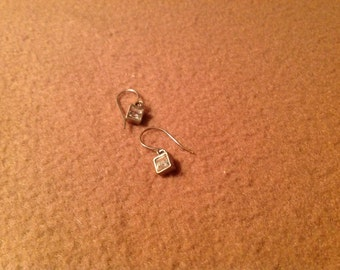 Vintage Sterling Silver Pierced Dangle Earrings