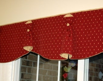 """BUNNY NO EARS 2 Hidden Rod Pocket® Custom Window Valance to fit 71""""- 85"""""""" window, Made with your fabrics, my labor and lining"""