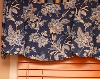 """Custom Wide Width Valance JORDAN Hidden Rod Pocket® Valance fits 87""""- 110"""" window Made with your fabric, Includes LABOR and LINING"""