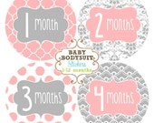 Baby Month Milestone Stickers, Monthly Sticker, Baby Bodysuit Stickers, Baby Photo Prop, Mom Gift, Baby Shower Gift Baby Girl - Sweet Sophia