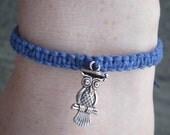 "Blue ""Graduation Owl"" Bracelet"