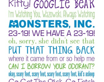 Sully Quotes Brilliant Monsters Inc Quotes  Etsy