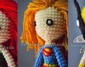 Finished Doll : Super Girl, Poison Ivy, Hawk Girl