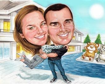 Costom couples caricature