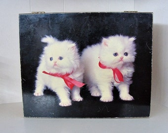 Vintage Cedar Box Kittens