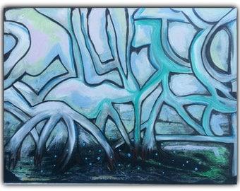 "Original Abstract Painting ""Strange Things"""