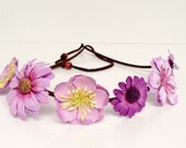 EDC, Coachella Flower Headband Crown-Flower Halo-Music Festival Wear, Coachella, Rave, Ezoo, Wedding-Med Bloom