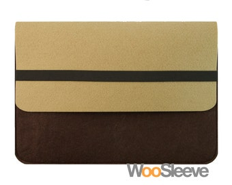 "15"" inch Apple Macbook Pro with Retina Display Sleeve Case Cover Laptop Sleeve Case Cover --Brown & Chocolate"