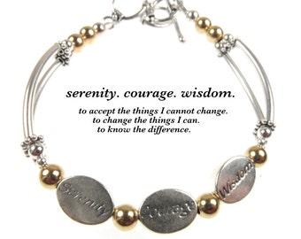 Serenity prayer etsy serenity prayer bracelet serenity courage wisdom serenity prayer jewelry prayer bracelet prayer mozeypictures Images