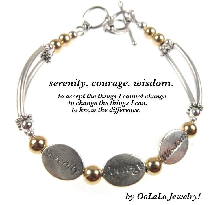 serenity prayer bracelet serenity courage wisdom serenity