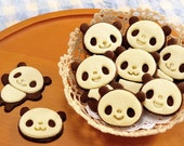 Set of 4 - Panda Cookie Cutter Biscuit Molds Cookies mold  cake mold