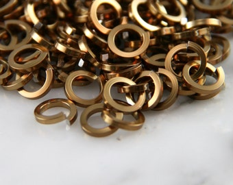 18 ga 3/16, 200 Square Bronze Anodized Aluminum Chainmail Jump Rings