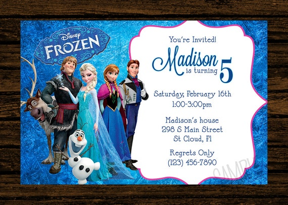 Nerdy image throughout free printable frozen invites