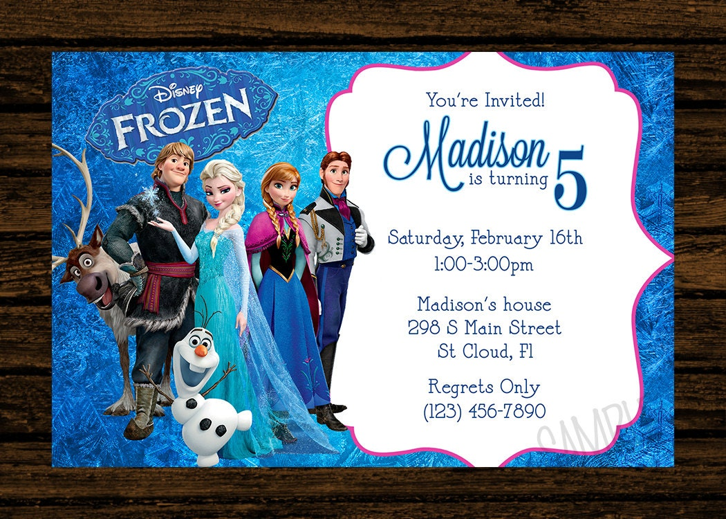 Frozen Birthday Invitations Cards Thebeerengineco - Party invitation template: frozen birthday party invitation template