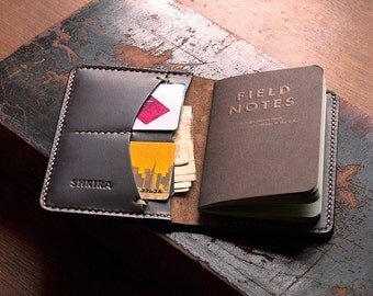 Field Notes Cover Wallet Horween Chromexcel Ox Blood Leather