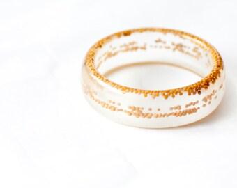 Minimalist bangle Coriander Resin Bracelet Chunky bangle Large size