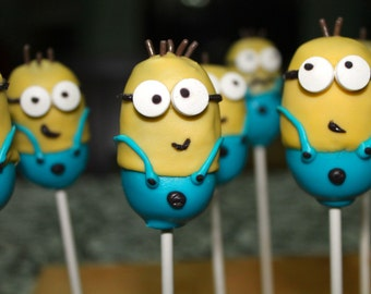 Little Yellow Men Cake Pops
