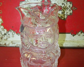 Glass Toby Mug Vintage Toby Pitcher