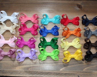 SALE:  Set of 10 Basic Mini Boutique Bow