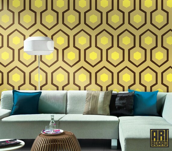 Hex Honeycomb Self Adhesive Diy Wallpaper Home Decor By Artboardi