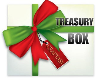 Treasury Box full of Haberdashery Samples and Crafts Supplies from our Craftasy Shop - FREE Shipping
