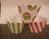 Grinch Cupcake Wrappers   Set of 12