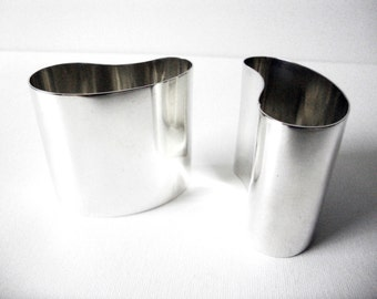 Modernist A Dragsted Pair Of Sterling Silver Vases Or Holder