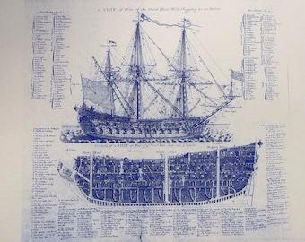 1728 British Sailing Ship of Way No.1