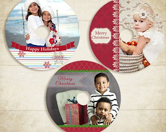 CD/DVD Holiday Christmas Label Templates - ID032