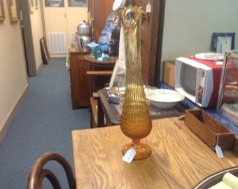 Vintage Amber Art Deco Vase