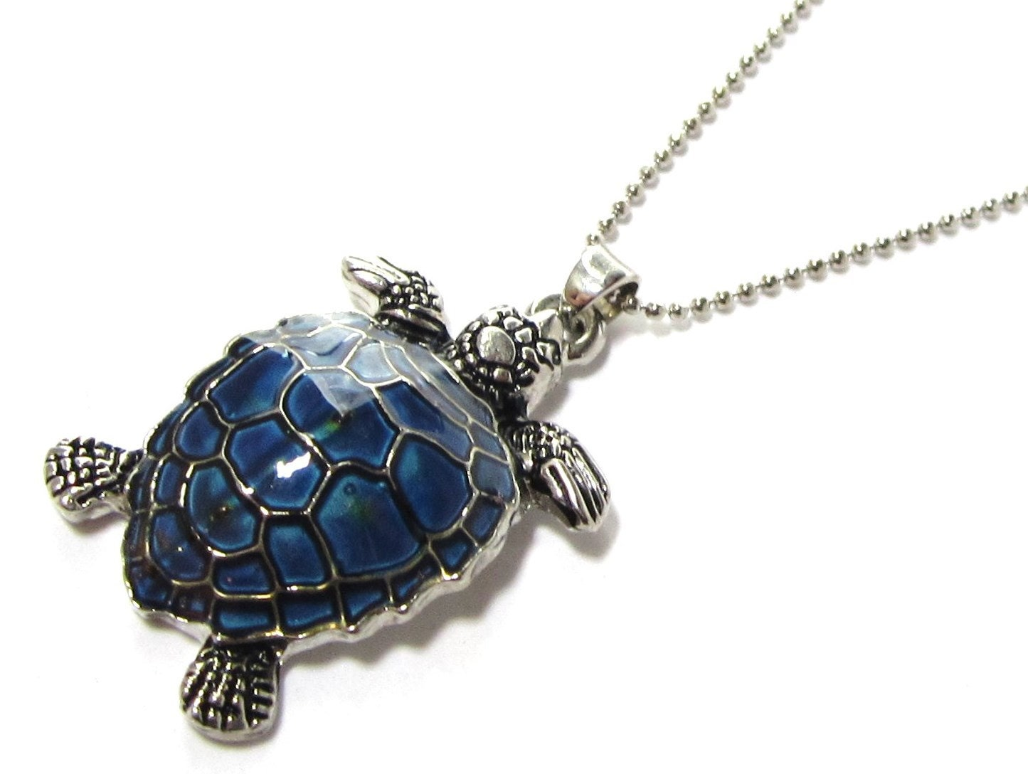 Turtle mood necklace sea turtle necklace color change mood