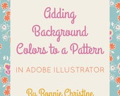 adding background colors to a pattern in adobe illustrator