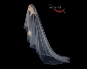 130 inch Drop Veil, Cut Edge