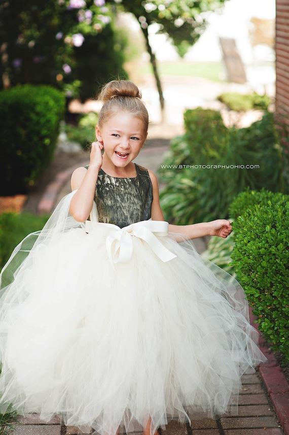 Toddler Camo Flower Girl Dresses 106