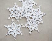 Snowflake decors Crochet Christmas ornaments Xmas tree decors Wedding favours Garland motif