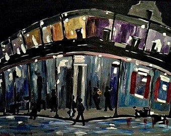 NOLA Blur Series 3, Original French Quarter Painting