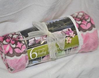 Simple Baby Blanket Kit Marbella Rose