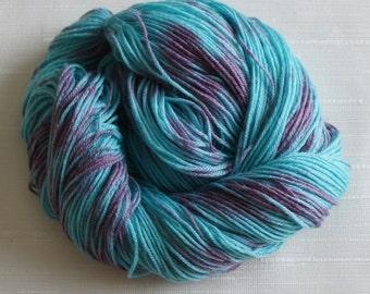 Hand Painted Yarn, Hand Dyed Yarn 230 yards, Sock Weight