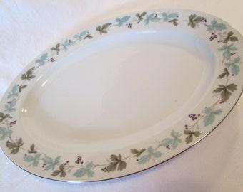 Vintage 6701 Fine China of Japan Oval Serving Platter